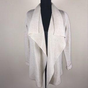 VINCE Open front drape sweater S